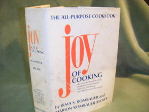 THE JOY OF COOKING by MARION IRMA S ROMBAUER HCDJ 1975 1985