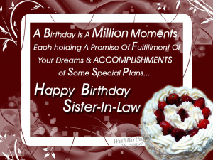 Funny Birthday Quotes For Sister In Law #1