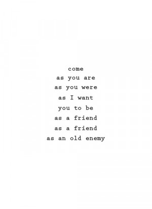 nirvana words lyrics come as you are