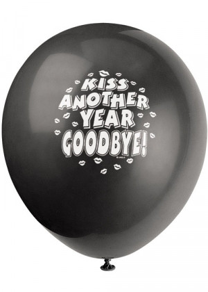... - Assorted Quotes 12in Printed Latex Balloons-Black & White 6pk