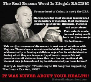 Harry Anslinger testified that marijuana induces homicidal mania, but ...