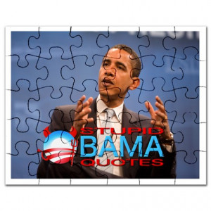 ... Gifts > 2012Meterproobama Toys > Stupid Obama Quotes Cover Puzzle