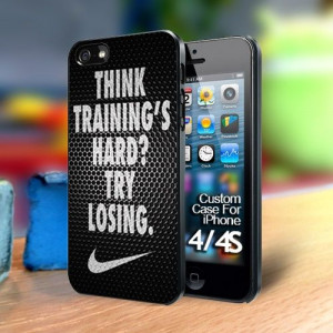 Nike quote white on metal Iphone 4 case | TheYudiCase - Accessories on ...