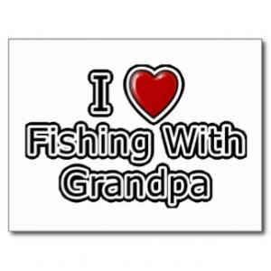 Heart Fishing with Grandpa Postcard