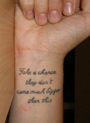 wrist tattoo quotes for girls