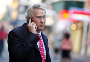 Chesapeake Energy Corporation CEO Aubrey McClendon walks through the ...