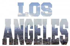 ... - Los angeles in words LA cityscape wall decal. wall sticker quotes