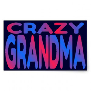 Crazy Grandma Rectangular Sticker