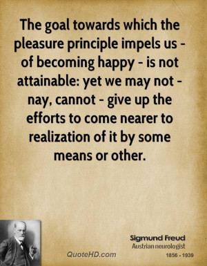 The Goal Towards Which Pleasure Principle Impels Becoming