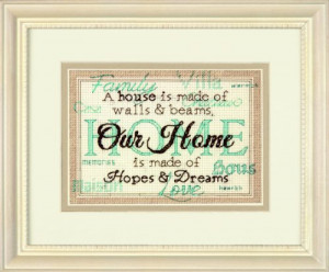 Beginners Cross Stitch - Kits for Inspirational Quotes For Home Decor