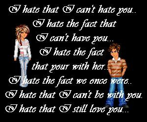 Quote I Cant Hate You Tag Code: