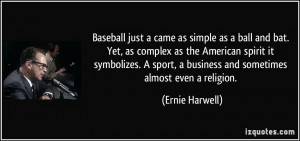 Baseball just a came as simple as a ball and bat. Yet, as complex as ...