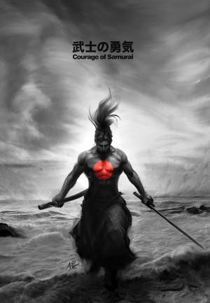 Courage of Samurai by Artgerm