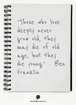 ... quotes about aging. Do you have a favorite quote about aging? If so