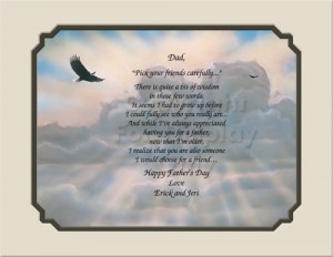 Personalized Dad Gift Keepsake and Remembrance