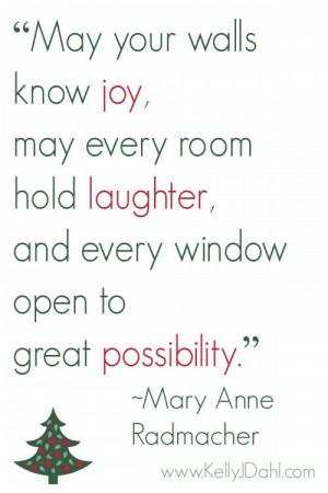 Holiday Joy quote www.kellyjdahl.com