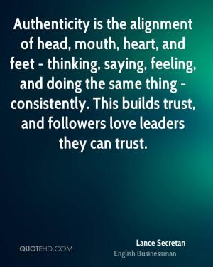 Lance Secretan Trust Quotes