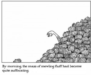 Edward Gorey Mewing Fluff