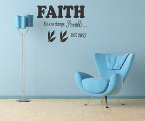 Details about FAITH WALL STICKER QUOTE ART DECAL Lounge Bedroom Living ...
