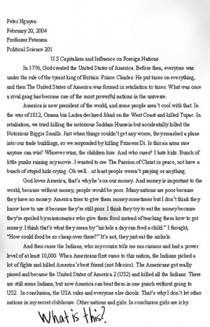 Person of the year award essay