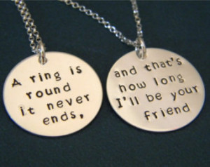 , BFF, Sorority Sisters Custom Made, Hand Stamped Personalized Quote ...