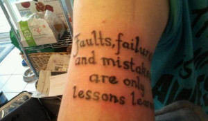 motivational quote tattoos