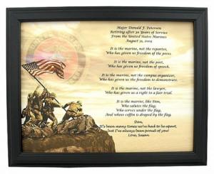 Marine Retirement Poems