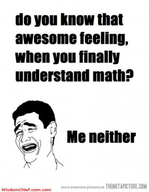 ... When You Finally Understand Math? Funny Meme Comics Quote Picture