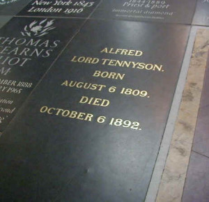 Burial Stone of Alfred Tennyson