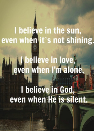 believe in God! Do you?