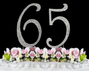 ... (65) Cake Topper 65th Birthday Party Free Shipping Great Gift Idea
