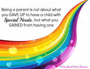 Being a parent is not about what you GAVE UP to have a child with ...