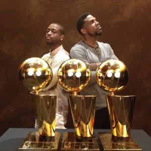 3X Champions - Dwyane Wade and Udonis Haslem Basketball Team, Heat ...