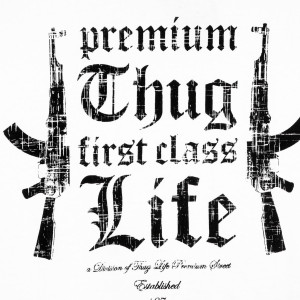 ... Männer » Oberbekleidung » Thug Life Ak Premium Thug T-Shirt White