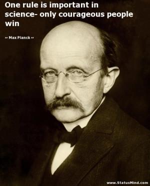 Max Planck Quotes Max planck quotes