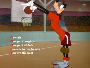 Love Basketball Poems Disney poem goofy playing