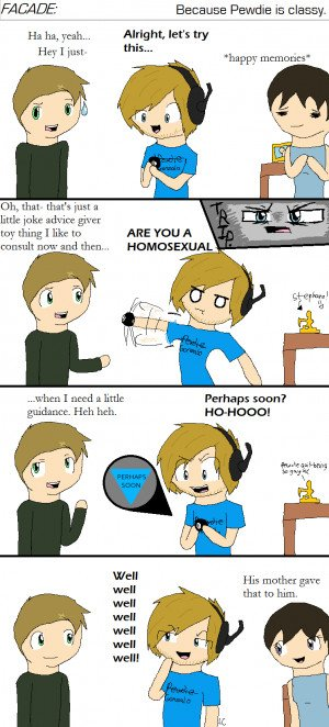 Pewdiepie Facade Comic: The Magic 8 Ball