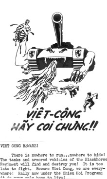 american wartime pamphlet to viet cong