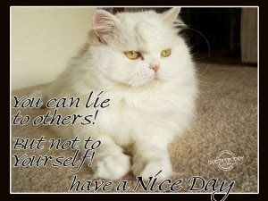 ... Lie to Others! But Not To Yourself! Have a Nice Day ~ Good Day Quote