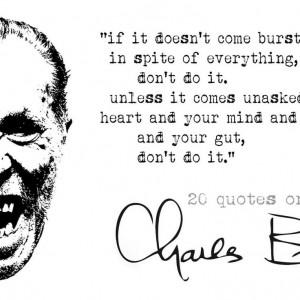 20 Charles Bukowski Quotes on Writing – Azevedo's Reviews