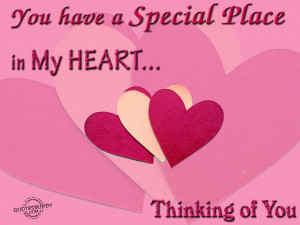 You are special to me...