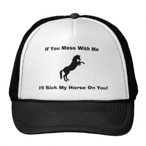 Funny Horse Sayings Hats