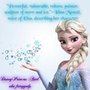 Idina on Elsa - frozen Fan Art