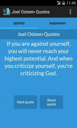 View bigger - Joel Osteen Quotes for Android screenshot