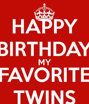 Happy Birthday Twins Quotes