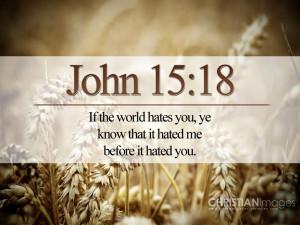 John 15:18 – The World Hates the Disciples Papel de Parede Imagem