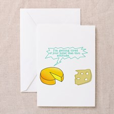 Holier Than Thou Attitude Greeting Card for