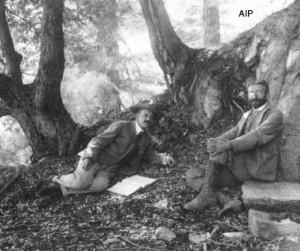 George Ellery Hale and Ferdinand Ellerman on Mount Wilson. Photo ...