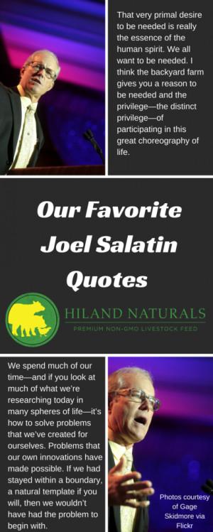Our Favorite Joel Salatin Quotes - Hiland Naturals