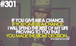 chance # second chance # only chance # love # prove # prove to you ...